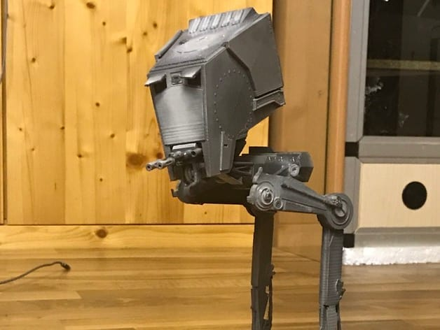 A painted, 3D-printed AT-ST  from Star Wars. (Image courtesy of Thingiverse/duerro.)