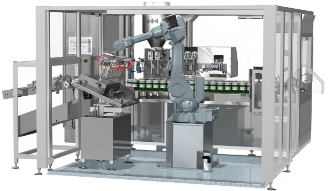 Tube filling machines are highly complex. The picture shows a Nordenmatic 1703X Filler.