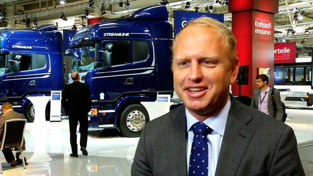 HE HAS THE FINAL WORD. Scania's CEO, Henrik Henriksson (pictured), has the final responsibility for which path the German-Swedish truck manufacturer will follow in terms of industrial IT support. However, when it comes to the PLM solution, Scania's Michael Tehl holds an important role from a senior executive perspective.