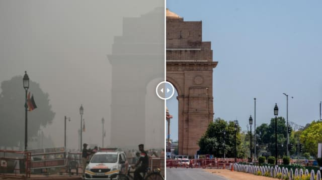 Indian cities, with some of the worst air pollution on Earth, are clearing up. (Image courtesy of CNN)