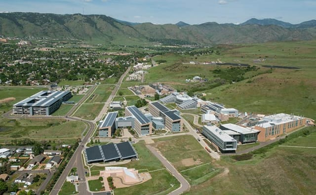 NREL's South Table Mountain (STM) campus, which includes the RSF, in 2016. (Image courtesy of NREL.)