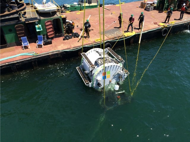 The Leona Philpot was deployed in August 2015 off the coast of California. (Image courtesy of Microsoft.)
