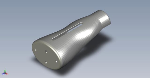 CAD model of the enclosure for the AIDex hardware. (Image courtesy of the AIDex team.)