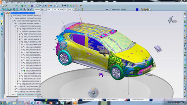 A TOUGH SITUATION FOR DASSAULT SYSTÈMES' V6 IN AUTOMOTIVE. While French PLM developer Dassault Systèmes is strong on the CAD side in the automotive segment with their CATIA V5 solution, they are facing a tough situation regarding the V6 version on the 3DEXPERIENCE platform (with ENOVIA as PDM backbone). This in turn is a reason why Siemens PLM is closing in with its CAD flagship, NX. In the cPDm arena, Siemens Teamcenter suite has dominated the automotive market for many years. In the final round, Siemens NX and Teamcenter won the battle at Yamaha over Dassault Systèmes' 3DX solutions. The picture above is from Renault, who is one of the few automotive companies working with at least some V6 components.