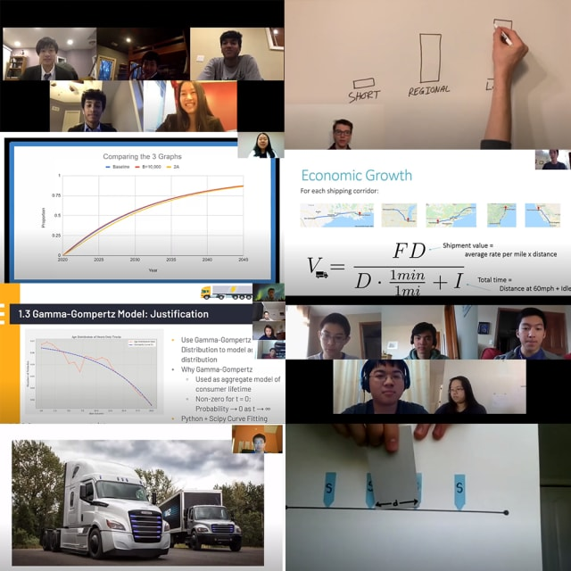 M3C teams engage in virtual presentations to deliver their solutions. (Image courtesy of M3C.)