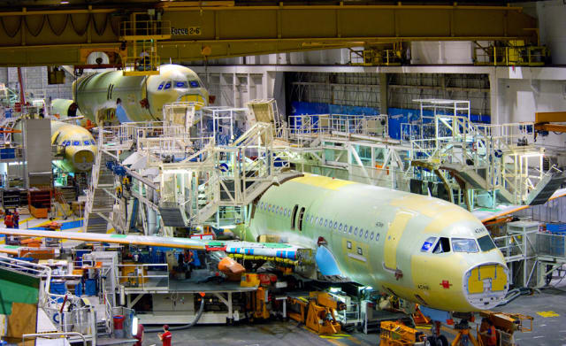 eBOM IN PTC, mBOM IN SAP. European airplane manufacturer Airbus works according to a system where the eBOM's are produced by the company's PTC solution. This eBOM is transferred to Airbus' SAP system where the mBOM is issued.