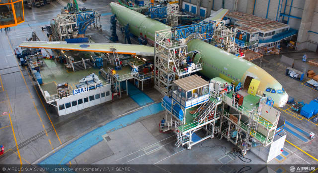 MANUFACTURING AT AIRBUS. Production of Airbus' A330 model in Toulouse, France.