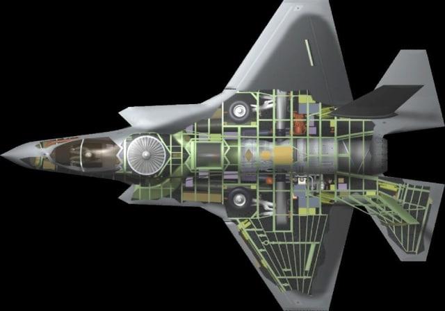 F-35 cutaway. (Image courtesy of Charles R. Davis/USAF.)