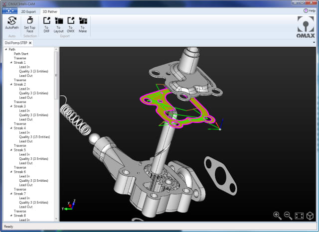 Waterjet Cutting CAM Software Simplifies Cutting Complex