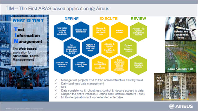 "SUPPLIER COLLABORATION IN FOCUS. ""We have tested and proven the Aras solutions with good results, flexibility and quick turnaround time to develop and deploy applications,"" said Airbus' Romare."