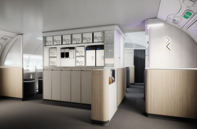 An aircraft galley designed by AIM Altitude. (Image courtesy of AIM Altitude.)