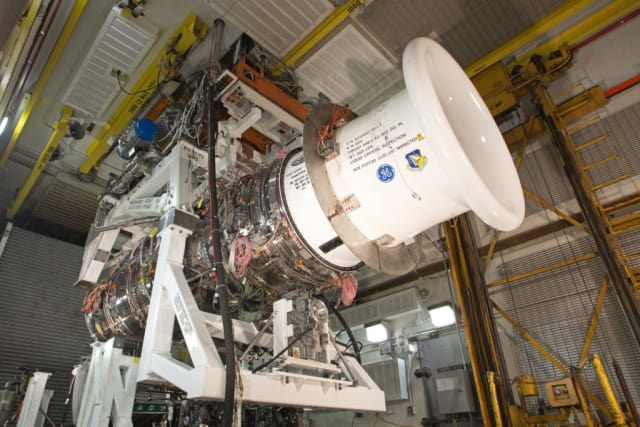 CMCs are being used to improve fuel efficiency in GE's adaptive cycle engines. (Image courtesy of GE Aviation.)