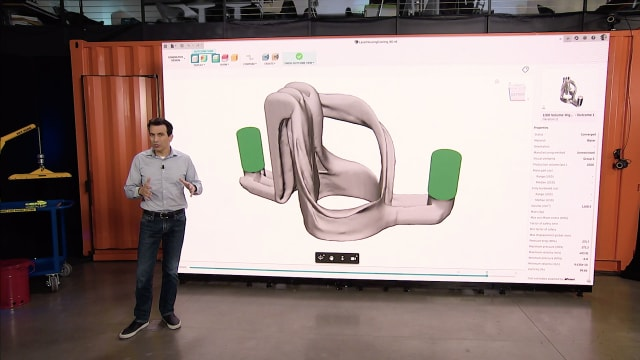 Autodesk CEO Andrew Anagnost tells a virtual audience about Generative Design at Autodesk University 2020. (Image courtesy of Autodesk.)