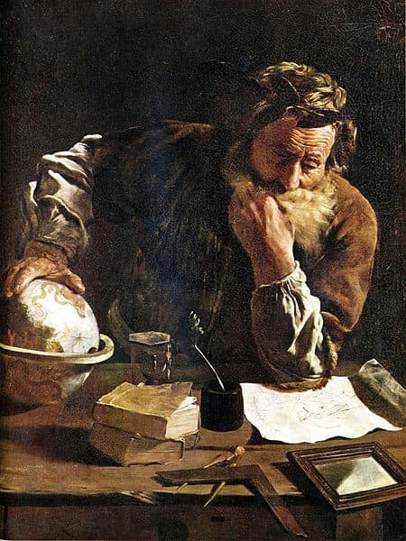 """Archimedes Thoughtful"" by Domenico Fetti, 1620."