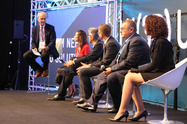 Experts from the auto industry discuss the future of additive manufacturing. (Image courtesy of Fira Barcelona.)