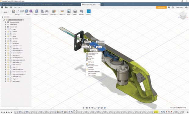 In November of 2012, Autodesk announced the release of the first version of Fusion 360, becoming the first major CAD vendor to do so. Fusion 360 is not fully cloud-based like Onshape because it leverages some of your local hardware. But users cannot save their work locally, instead it is uploaded and stored on Autodesk's cloud servers. (Image courtesy of Autodesk.)