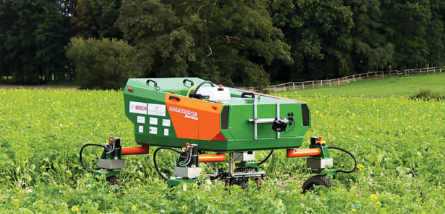 The Bonirob farming robot. (Image courtesy of Deepfield Robotics.)