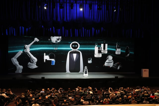 LG keynote at CES 2019.  (Image courtesy of CES.)