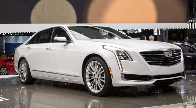 The Cadillac CT6 at the 2015 International Auto Show.