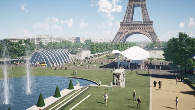 One of the goals of the project was to create more spaces that Parisians would enjoy, as currently the area is used almost entirely by tourists. (Image courtesy of Autodesk.)