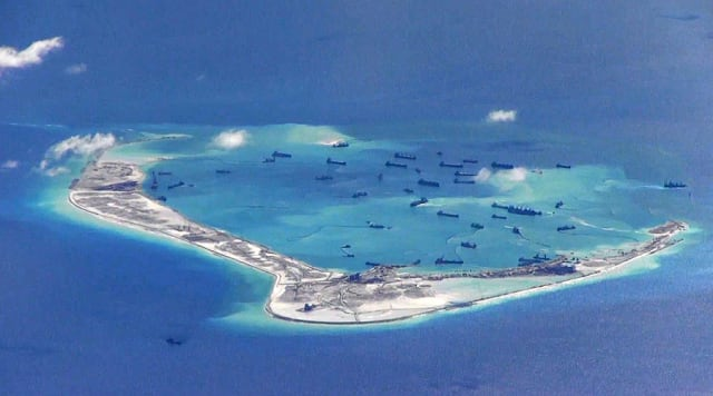 in the South China Sea, where China is pitted against smaller neighbors in multiple disputes over islands, coral reefs and lagoons in waters crucial for global commerce and rich in fish and potential oil and gas reserves: U.S. TO MAINTAIN FREEDOM OF NAVIGATION OPERATIONS PACE The top American military commander in the Indo-Pacific region says the U.S. will maintain the recent pace of freedom of navigation operations in the South China Sea aimed at challenging China's territorial claims. Adm. Phil Davidson told the Senate Armed Services Committee last Tuesday that China's effort to extend its territorial and economic influence was a bigger long-term threat to the free movement of trade and people in the region than North Korea.