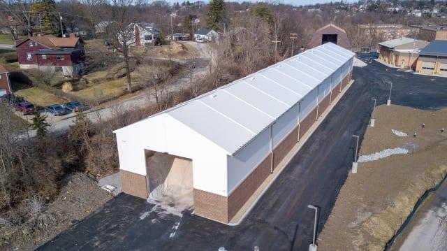 Road salt storage at Bethel Park, Pennsylvania. (Image courtesy of Legacy Building Solutions.)