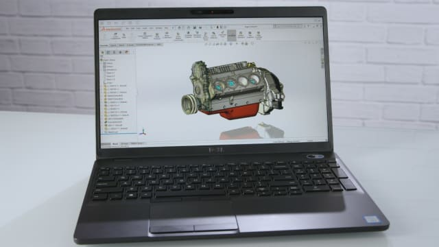 The Dell Precision 3540 mobile workstation.