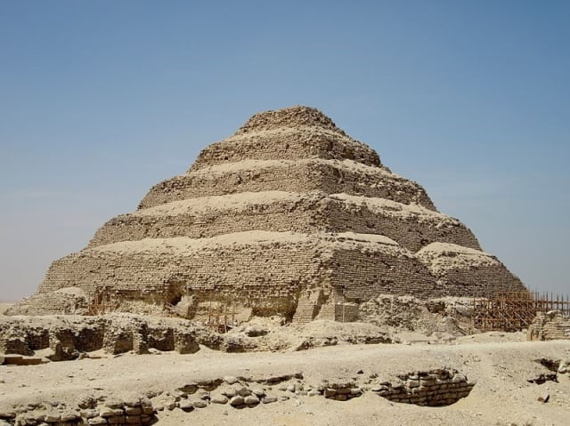 The step Pyramid of Djoser at Saqqara, designed by Imhotep. (Photo courtesy of Olaf Tausch.)