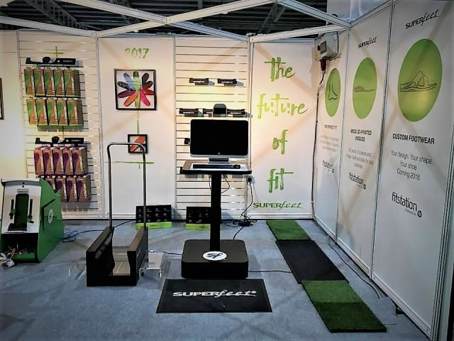 The FitStation setup from Superfeet in one retail location. (Image courtesy of HP.)