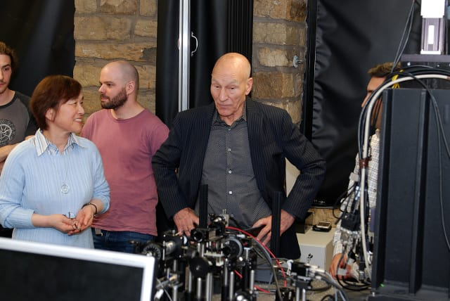 The Future Metrology Hub had a visit from Sir Patrick Stewart earlier this year.