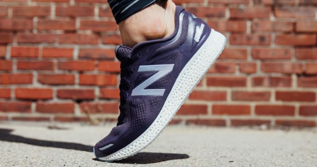 The Zante Generate from New Balance with 3D-printed midsoles released by New Balance in 2016. (Image courtesy of New Balance.)
