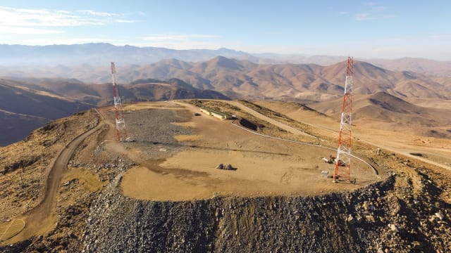 Aerial photo of the GMT site taken February 2017. (Image courtesy of Giant Magellan Telescope - GMTO Corporation.)