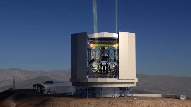 3D rendering of the completed GMT. (Image courtesy of Giant Magellan Telescope - GMTO Corporation.)