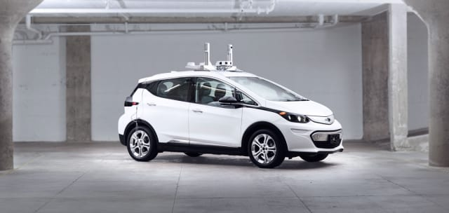 Autonomous Chevy Bolt. (Image courtesy of General Motors.)