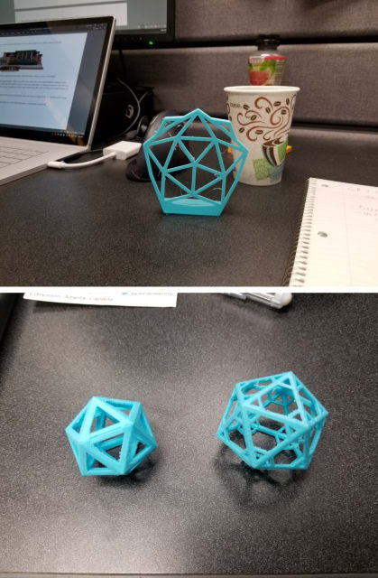 Engineering.com Geodesic V1 (top), V3 (bottom left) and V4 (bottom right).
