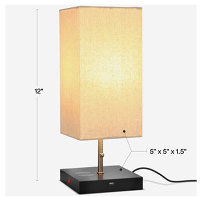 Figure 2. More details on the Grace Table Lamp. (Image courtesy of Brightech.)