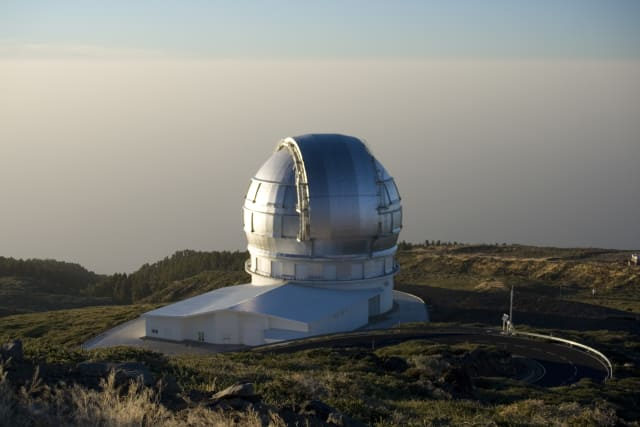 The Gran Telescopio Canarias. (Image courtesy of Pachango.)