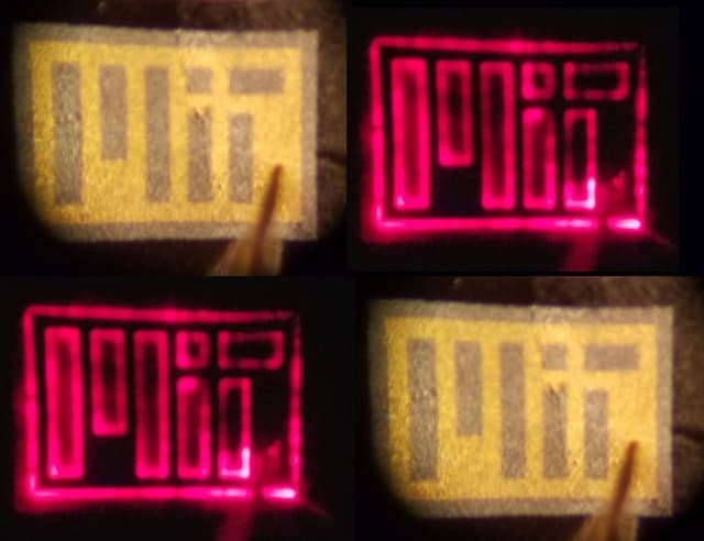 This image shows LEDs grown on graphene and then peeled. (Image courtesy of MIT.)