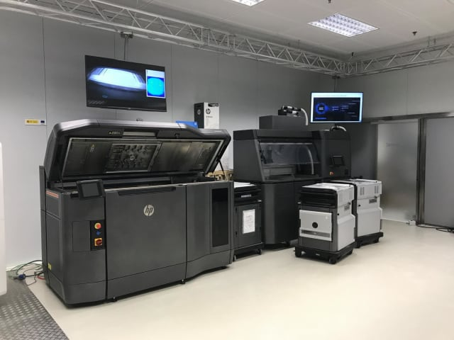 HP's Multijet Fusion system uses proprietary materials.