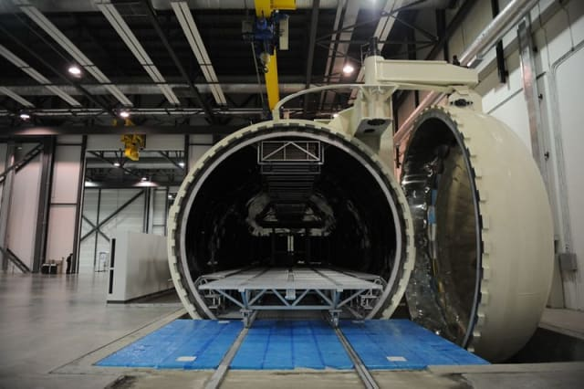 Large autoclaves are essential in large scale composite manufacturing.