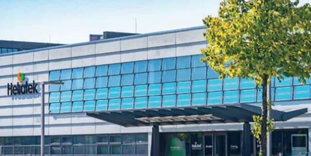 Solar glass on Heliatek's headquarters