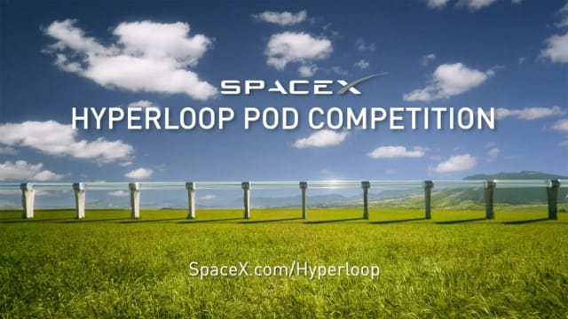 Conceptual artwork of a Hyperloop track used to announce the SpaceX Hyperloop Pod competition. (Image courtesy of SpaceX.)