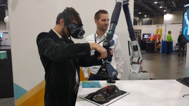 Scanning like a pro thanks to VR! (Image courtesy of the author.)