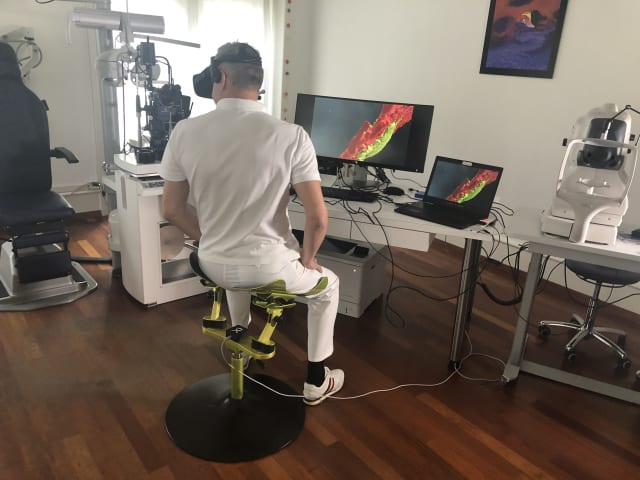 Using the Limbic Chair as an input device. (Image courtesy of Limbic Life.)