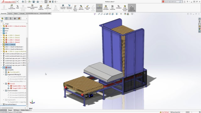 SOLIDWORKS 2019 lets users group mates by status. (Image courtesy of SOLIDWORKS).