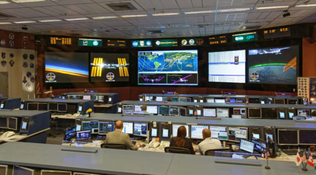 One of Johnson's ISS operations control rooms.