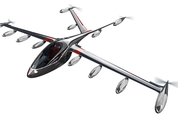 This conceptual rendering from flying taxi startup JOBY Aviation may be different from what the company is working on for the first prototype. For product design teams at JOBY, multiphysics tools like Simcenter STAR CCM+ are crucial to cut cost of expensive testing of propulsion systems. (Image courtesy of JOBY Aviation.)