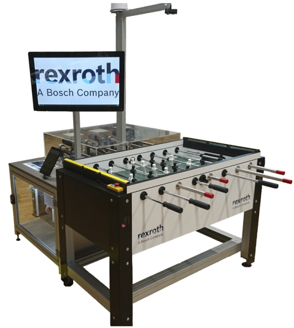 The KIcker foosball system. (Image courtesy of Bosch Rexroth.)