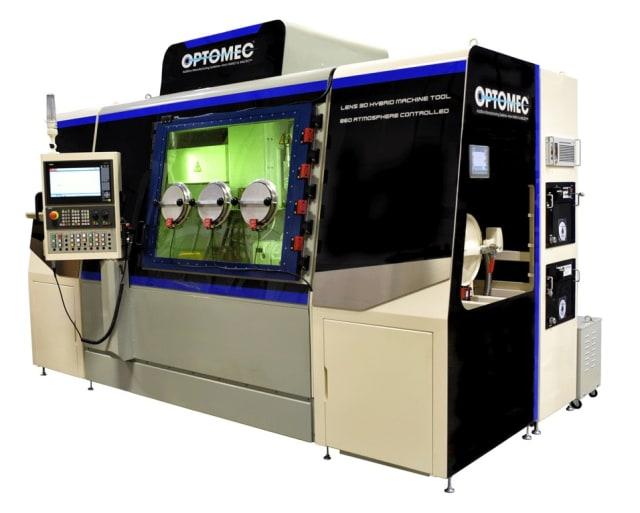 LENS 860 Hybrid Controlled Atmosphere Machine. (Image courtesy of Optomec.)