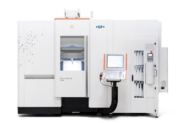 Mikron MILL P 500 U. (Image courtesy of GF Machining Solutions.)